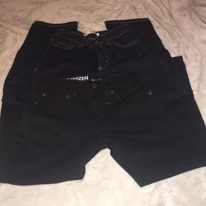 Two pairs of boys Levi black jeans